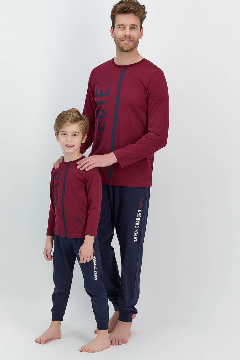RolyPoly - RolyPoly Connected Bordo Erkek Çocuk Pijama Takımı (1)