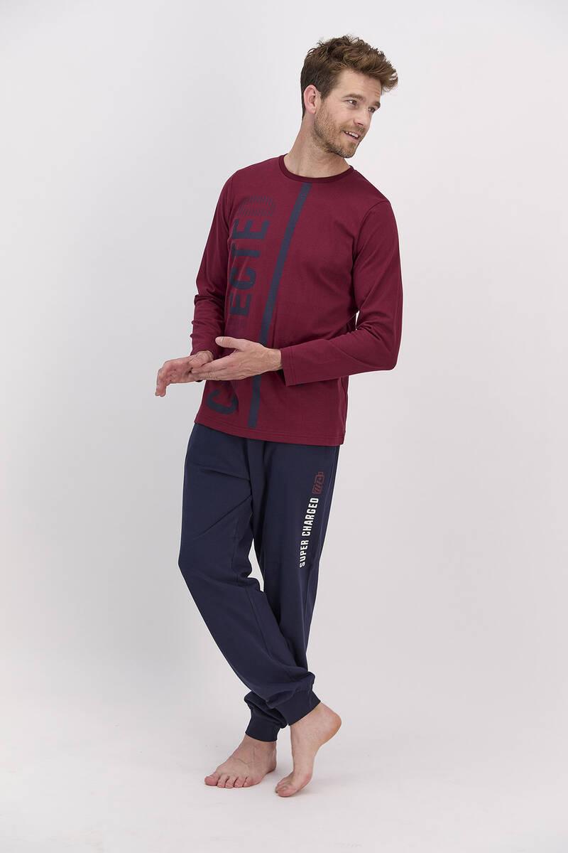 RolyPoly - RolyPoly Connected Bordo Erkek Pijama Takımı
