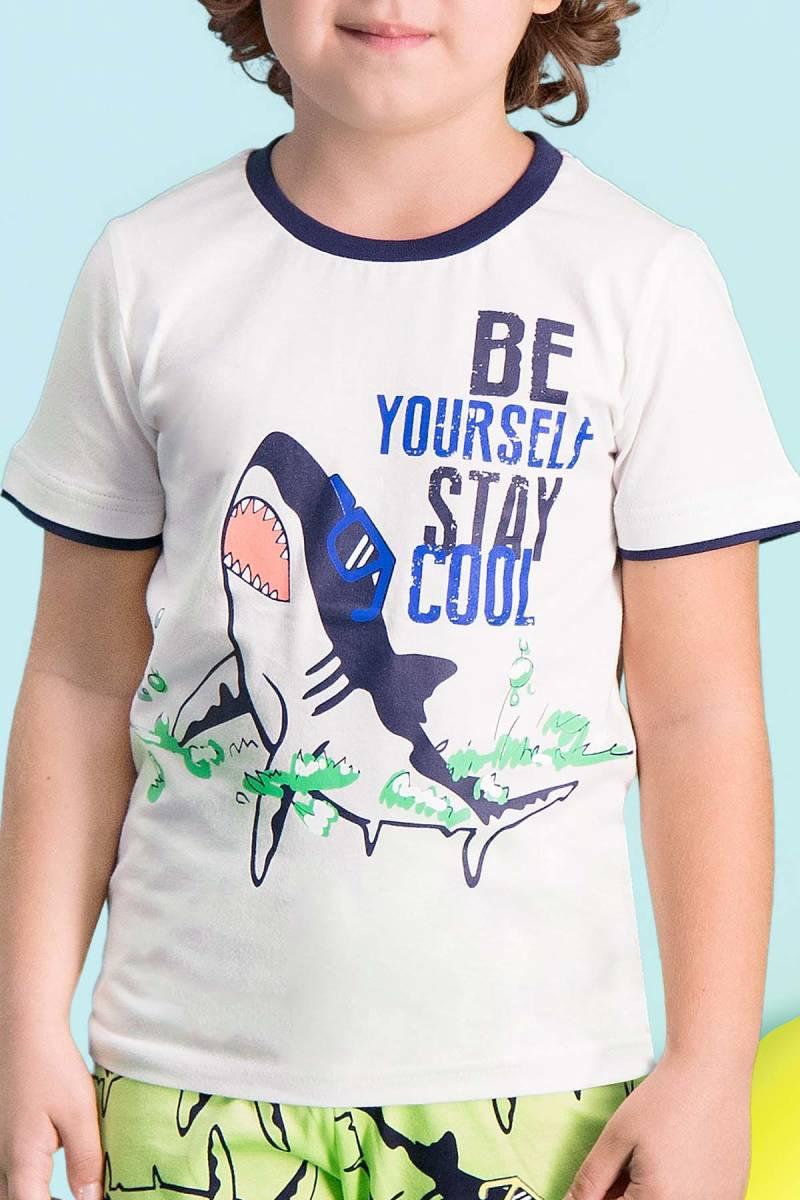 RolyPoly - RolyPoly Cool Shark Krem Erkek Çocuk Kapri Takım (1)