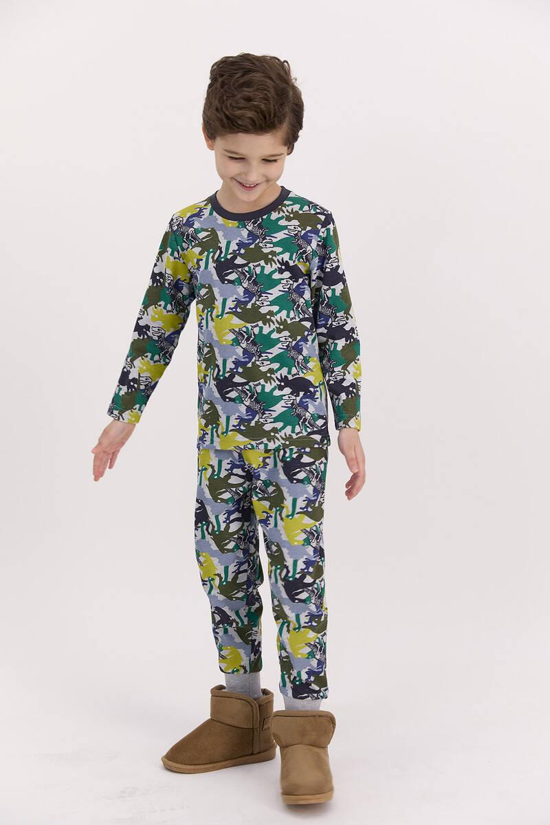 RolyPoly - RolyPoly Dinosaour Grimelanj Erkek Çocuk Pijama Takımı