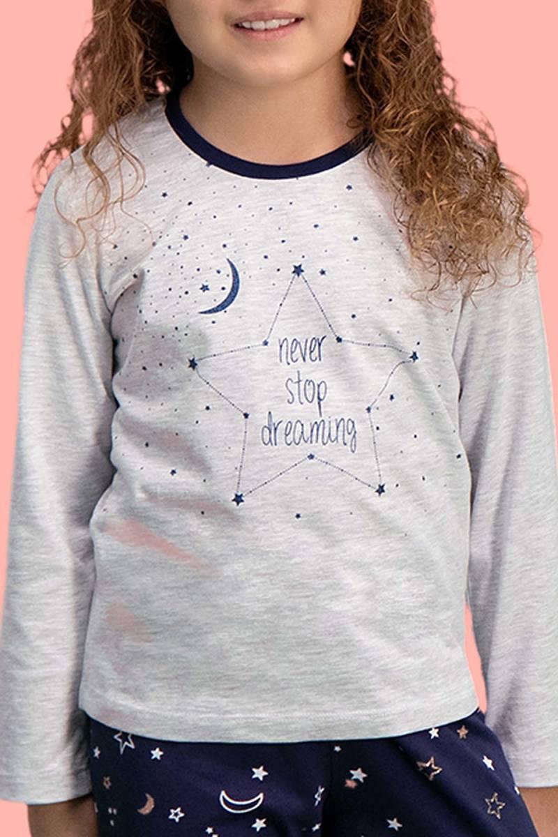 RolyPoly - RolyPoly Dreaming Açık Gri Kız Çocuk Pijama Takımı (1)