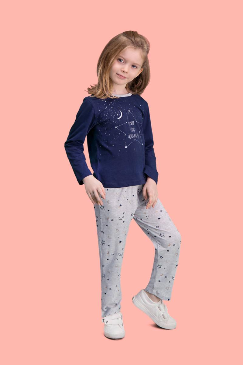 RolyPoly - RolyPoly Dreaming Lacivert Kız Çocuk Pijama Takımı