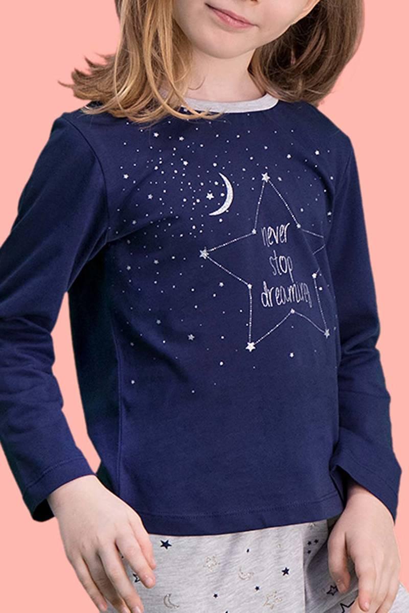 RolyPoly - RolyPoly Dreaming Lacivert Kız Çocuk Pijama Takımı (1)