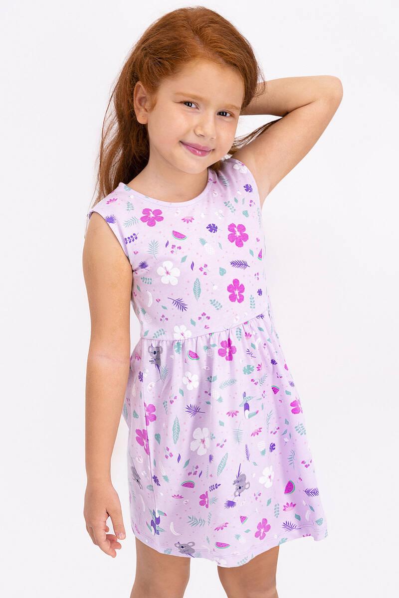 RolyPoly - Rolypoly Floral Pattern Açık Lila Kız Çocuk Elbise (1)