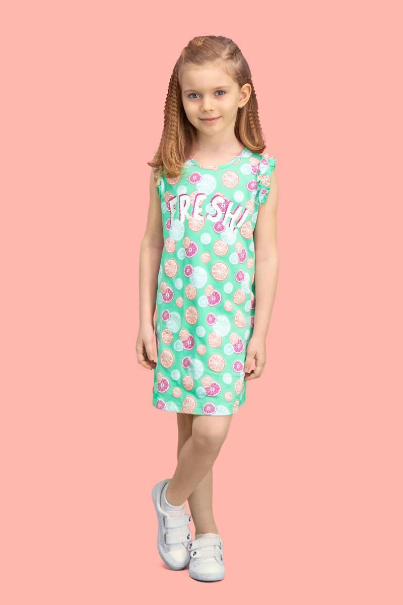RolyPoly - RolyPoly Fresh Fruits Mint Yeşili Kız Çocuk Gecelik