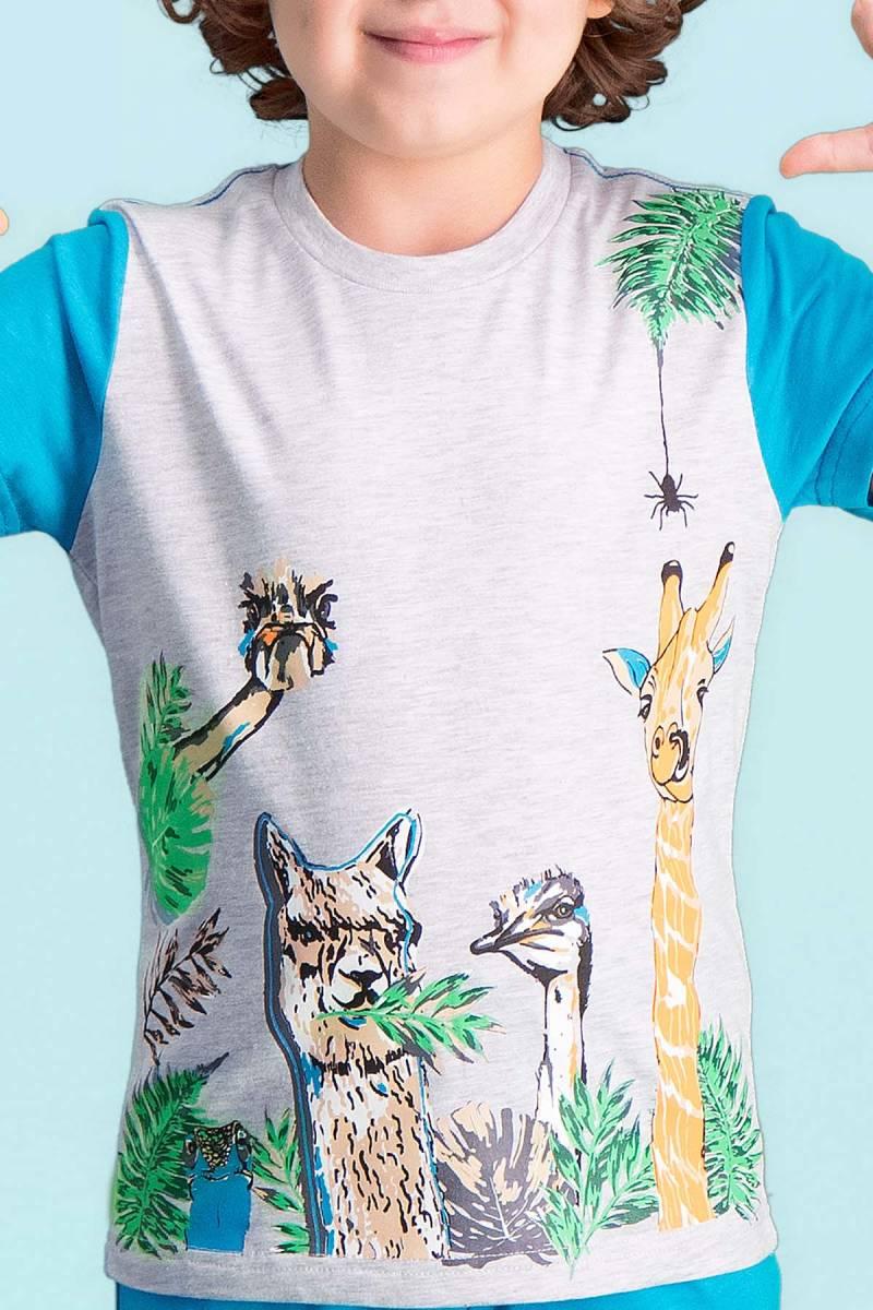 RolyPoly - RolyPoly Giraffe Açık Gri Erkek Çocuk Kapri Takım (1)