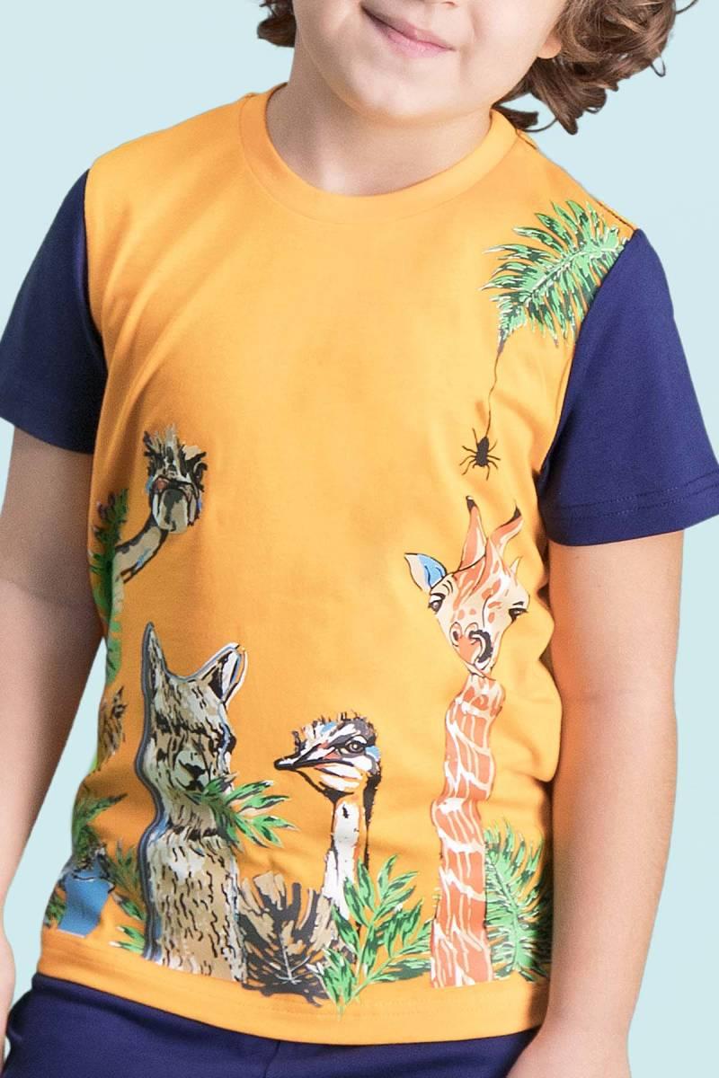 RolyPoly - RolyPoly Giraffe Oranj Erkek Çocuk Kapri Takım (1)