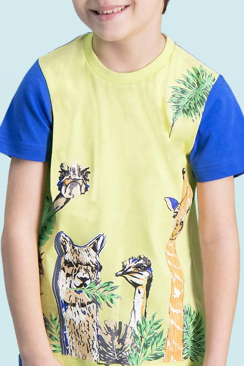 RolyPoly - RolyPoly Giraffe Yeşil Erkek Çocuk Kapri Takım (1)