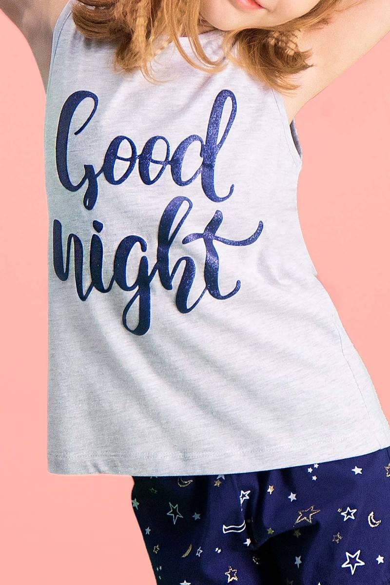 RolyPoly - RolyPoly Good Night Açık Gri Kız Çocuk Şort Takım (1)