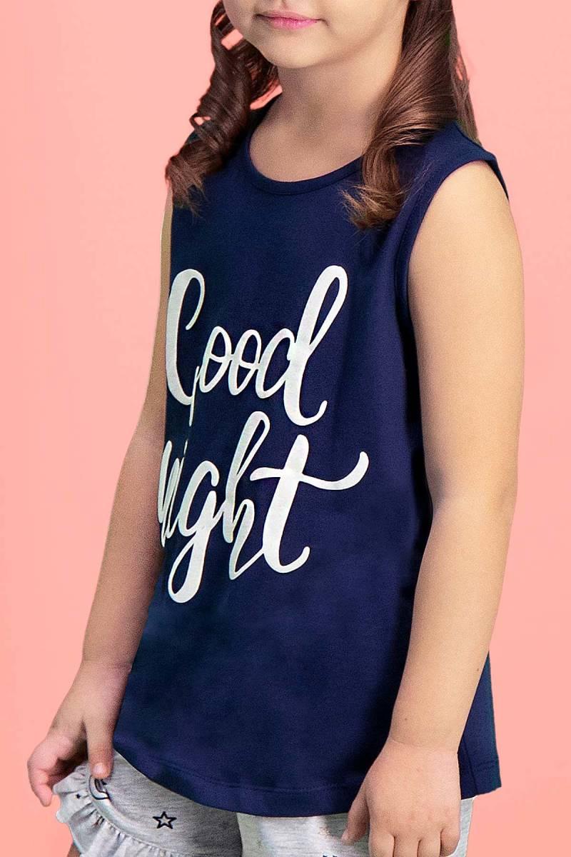 RolyPoly - RolyPoly Good Night Lacivert Kız Çocuk Şort Takım (1)