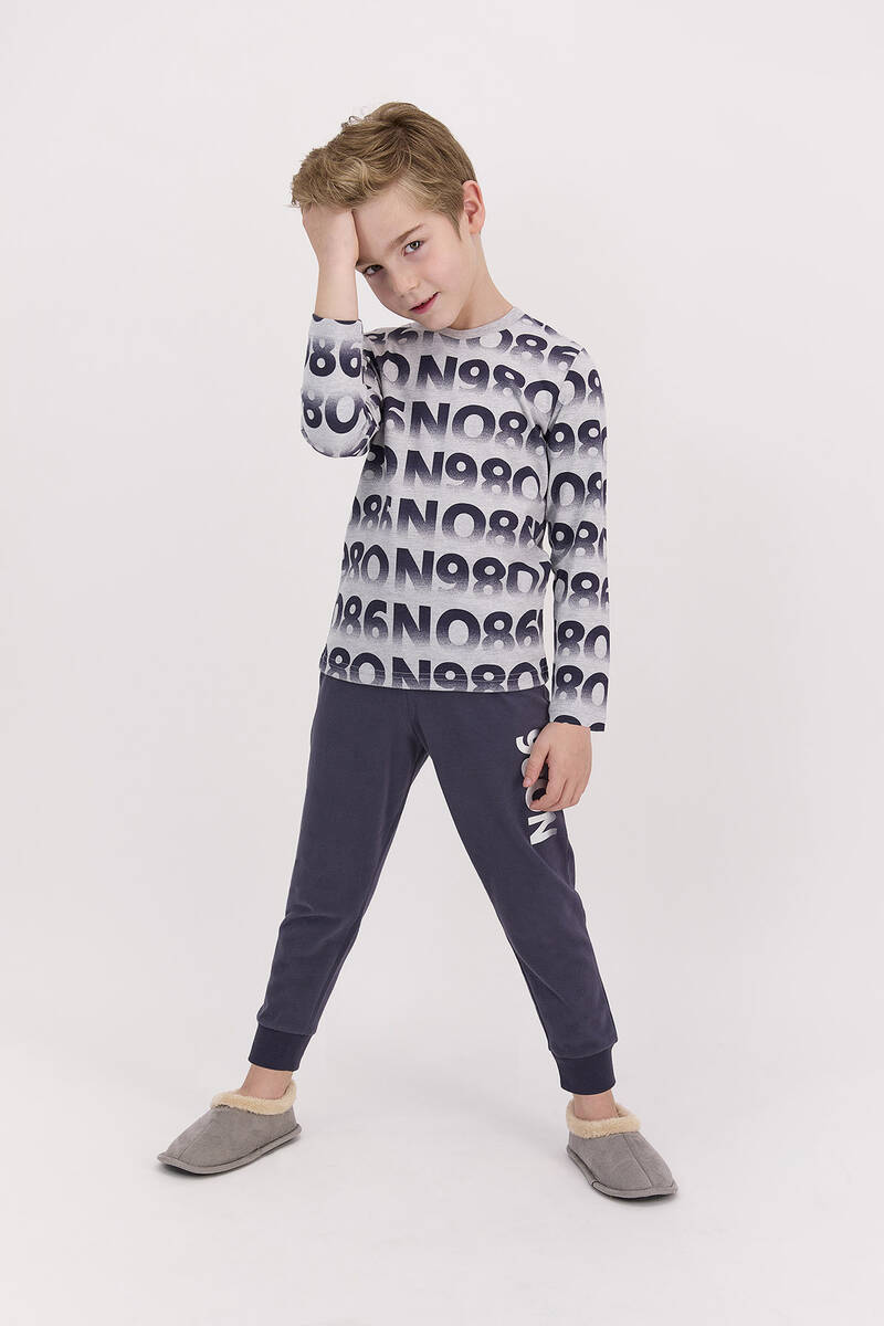 RolyPoly - RolyPoly Grimelanj Erkek Çocuk Uzun Kol Pijama Takımı