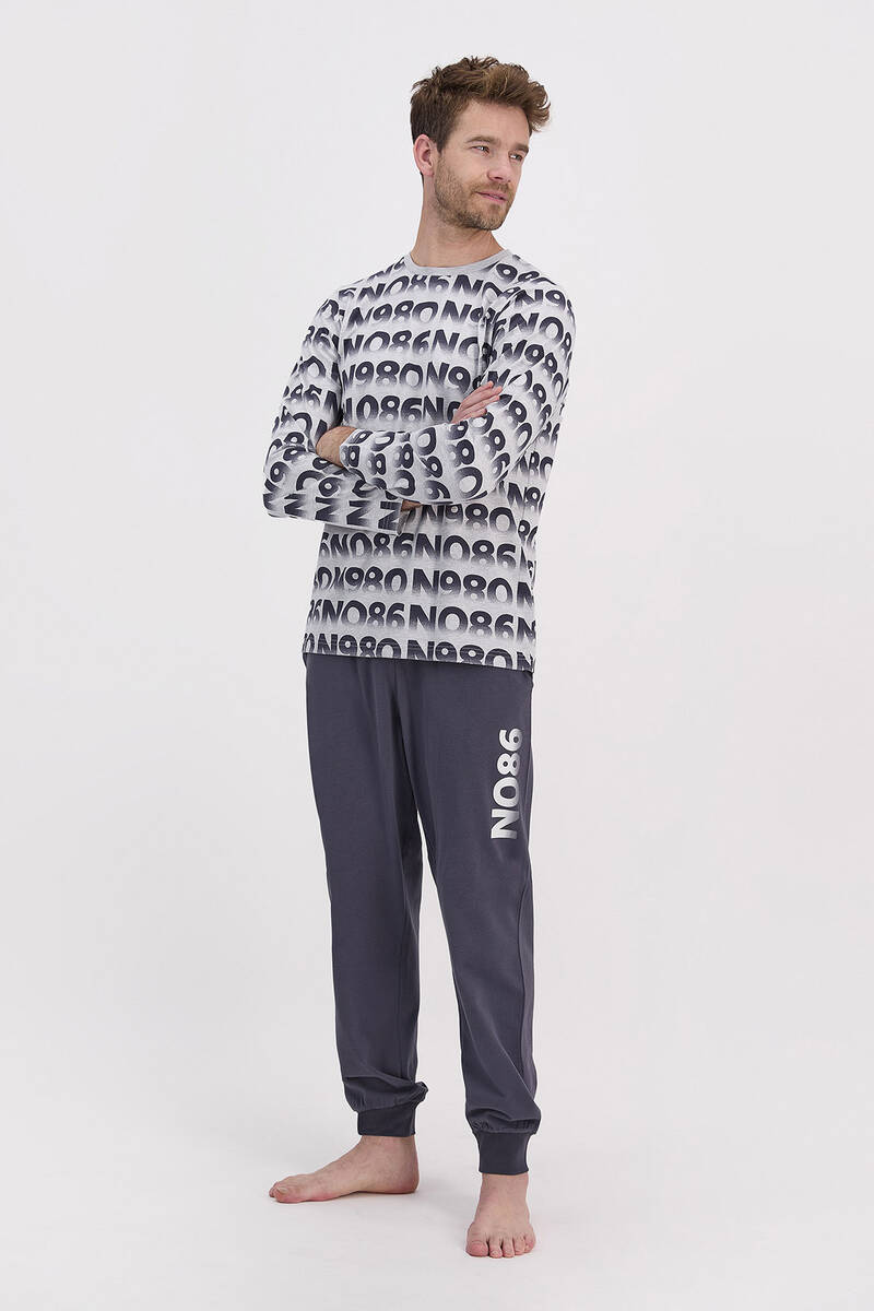 RolyPoly - RolyPoly Grimelanj Erkek Uzun Kol Pijama Takımı