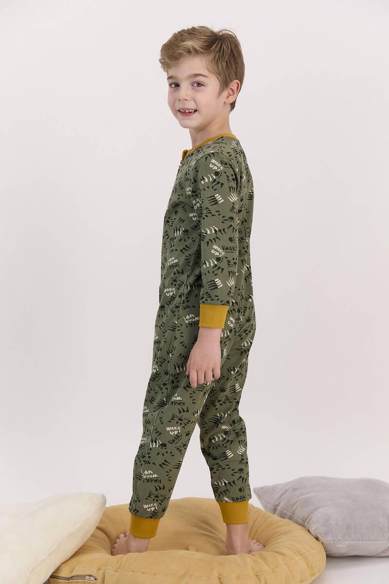 RolyPoly - RolyPoly Haki Erkek Çocuk Fermuarlı Tulum (1)