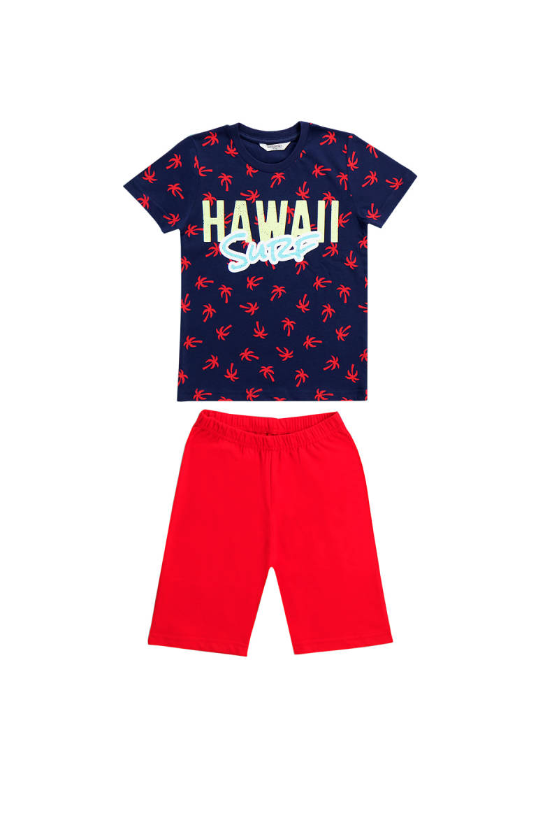 RolyPoly - RolyPoly Hawaii Lacivert Erkek Çocuk Bermuda Takım