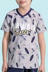RolyPoly - RolyPoly Hawaii Surf Grimelanj Erkek Çocuk Bermuda Takım (1)