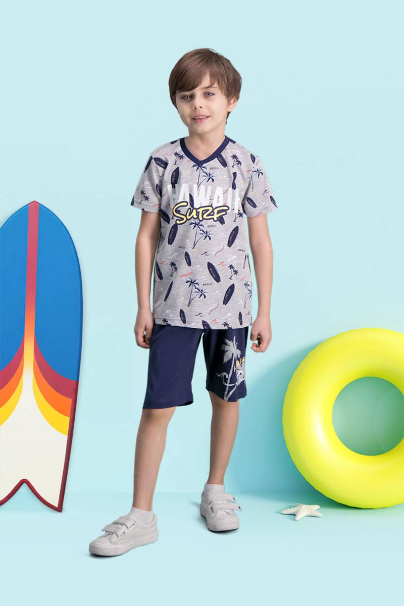 RolyPoly - RolyPoly Hawaii Surf Grimelanj Erkek Çocuk Bermuda Takım