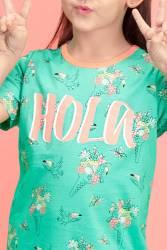 RolyPoly Hola Ice Cream Mint Yeşili Kız Çocuk Gecelik - Thumbnail