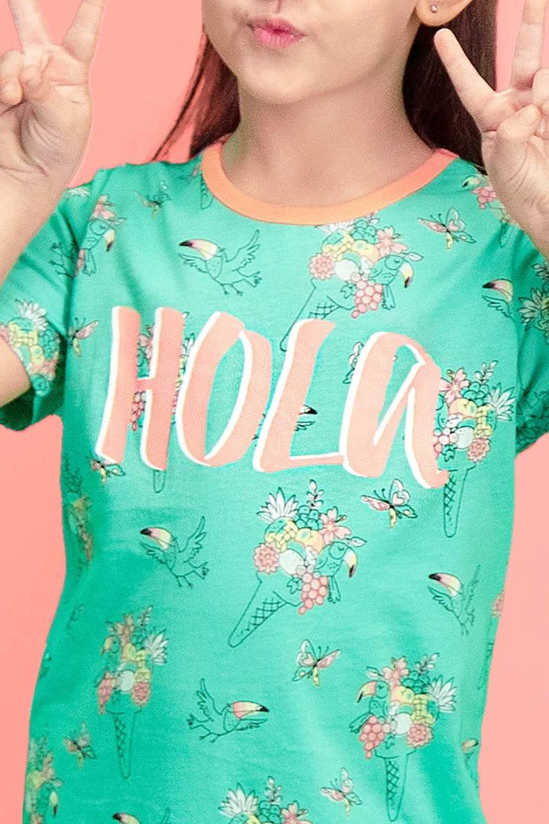 RolyPoly - RolyPoly Hola Ice Cream Mint Yeşili Kız Çocuk Gecelik (1)