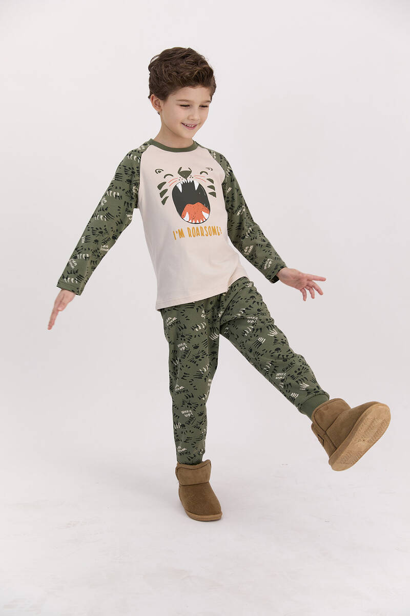 RolyPoly - RolyPoly I'm Roarsome Kum Beji Erkek Çocuk Pijama Takımı