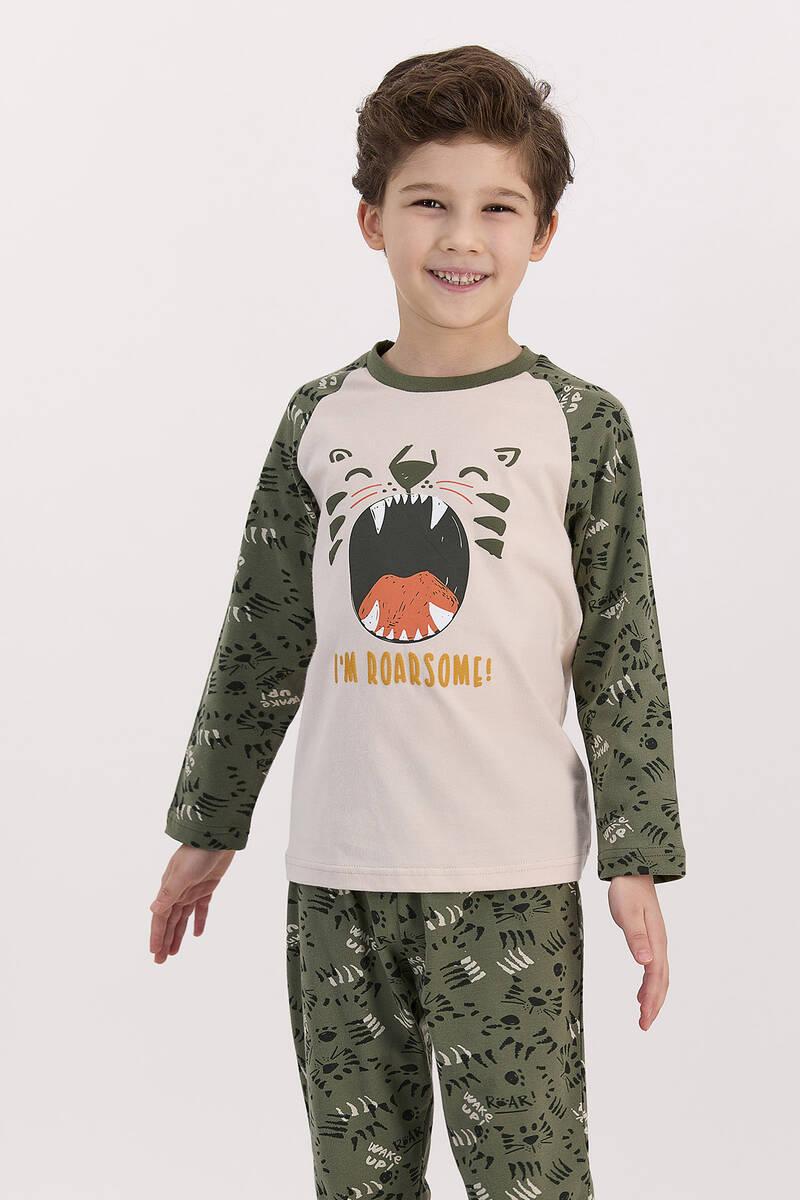 RolyPoly - RolyPoly I'm Roarsome Kum Beji Erkek Çocuk Pijama Takımı (1)