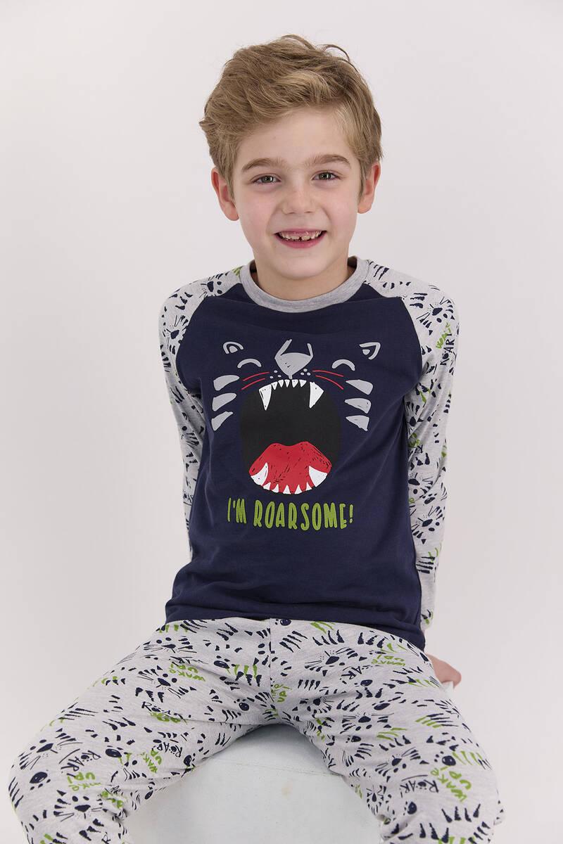 RolyPoly - RolyPoly I'm Roarsome Lacivert Erkek Çocuk Pijama Takımı (1)