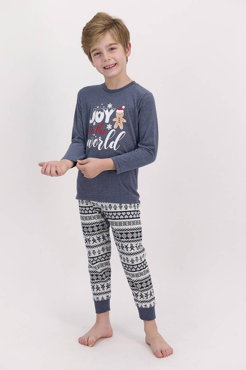 RolyPoly - RolyPoly Joy To The World Lacimelanj Erkek Çocuk Pijama Takımı