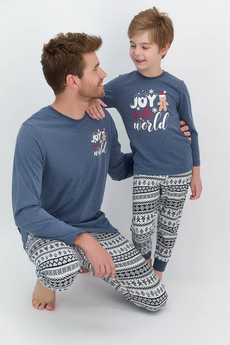 RolyPoly - RolyPoly Joy To The World Lacimelanj Erkek Çocuk Pijama Takımı (1)