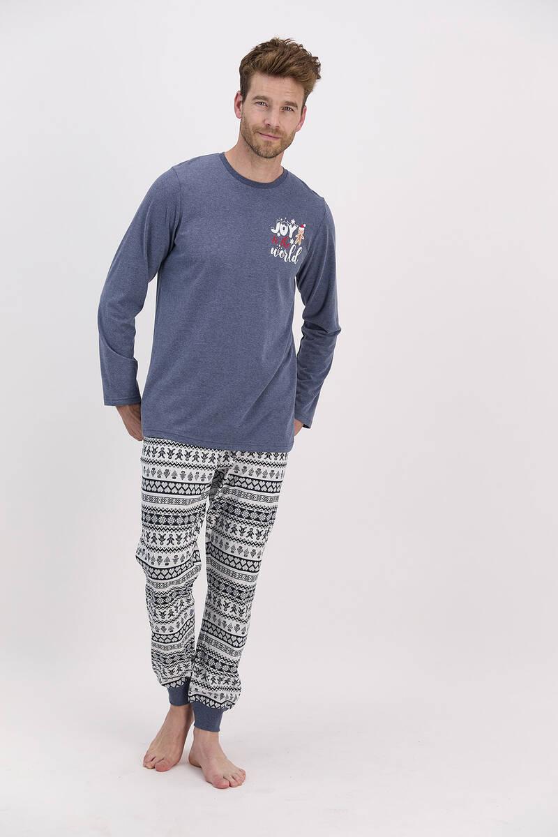 RolyPoly - RolyPoly Joy To The World Lacimelanj Erkek Pijama Takımı