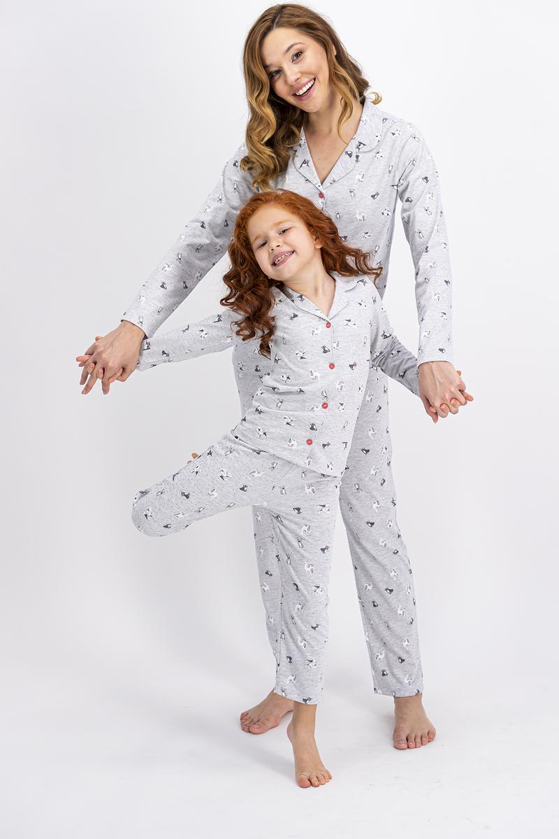 RolyPoly - Rolypoly Karamelanj Little Cats Kız Çocuk Gömlek Pijama Takımı (1)
