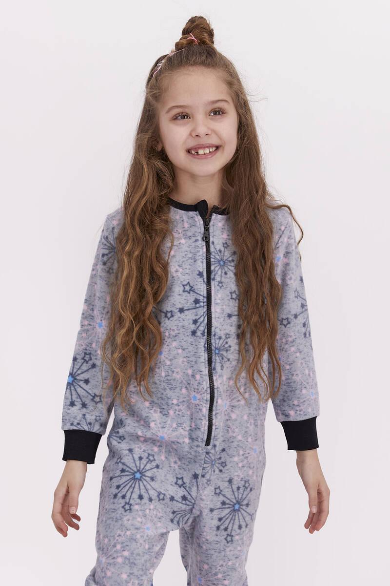 RolyPoly - Rolypoly Kız Çocuk Polar Tulum Grı (1)