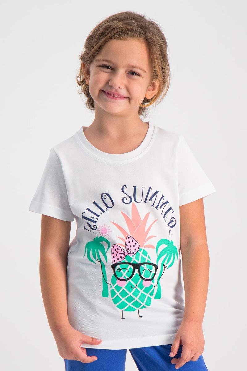 RolyPoly - RolyPoly Kız Çocuk T-Shirt Beyaz
