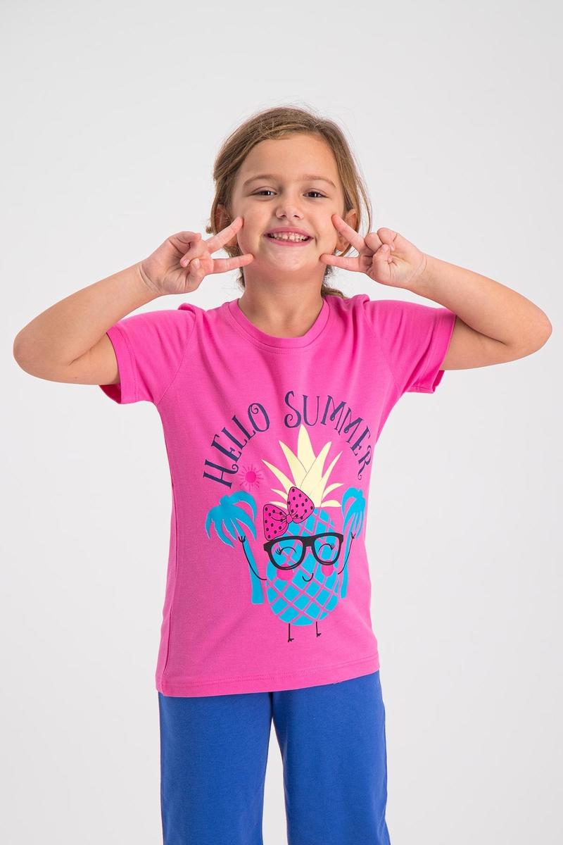 RolyPoly - RolyPoly Kız Çocuk T-Shirt Fuşya