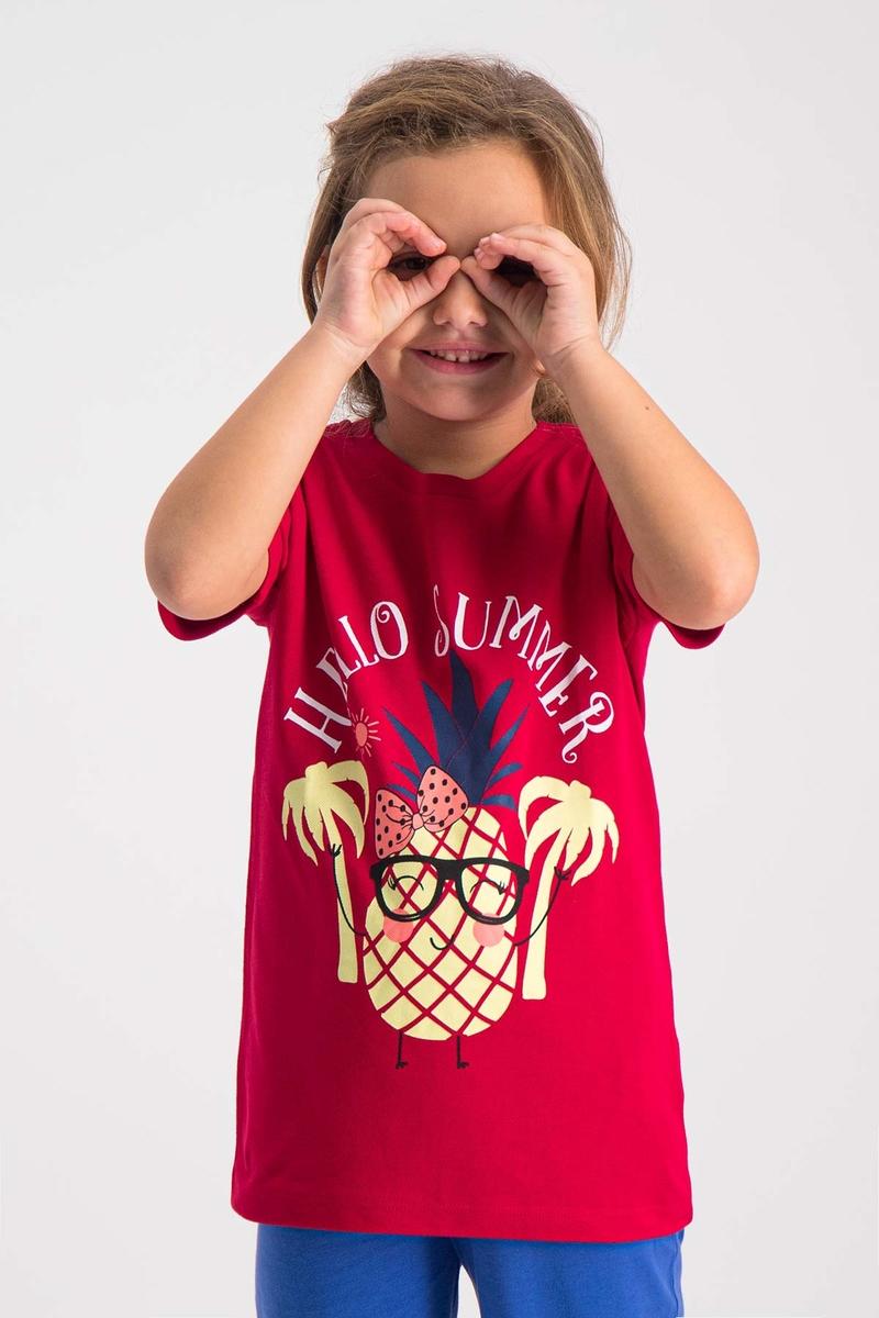 RolyPoly - RolyPoly Kız Çocuk T-Shirt Kırmızı