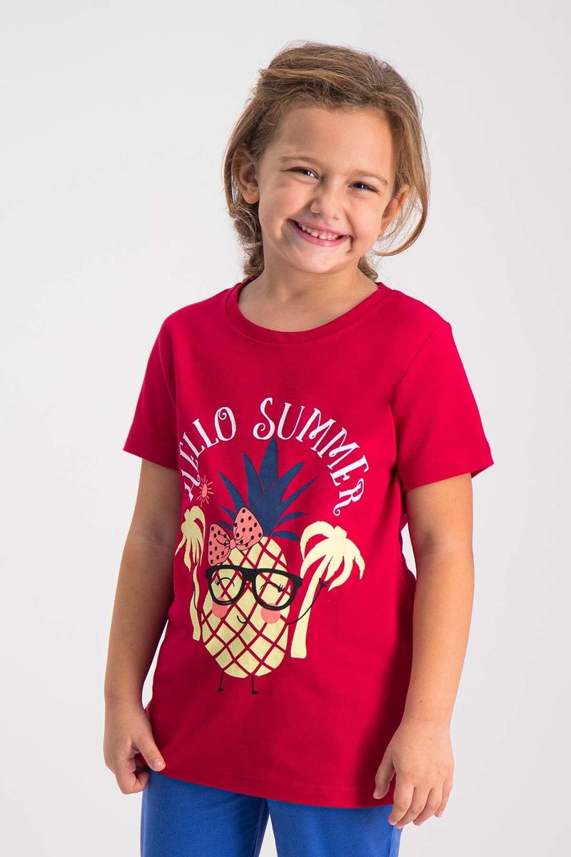 RolyPoly - RolyPoly Kız Çocuk T-Shirt Kırmızı (1)