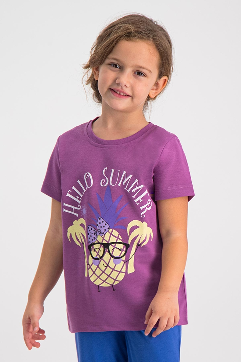 RolyPoly - RolyPoly Kız Çocuk T-Shirt Lila