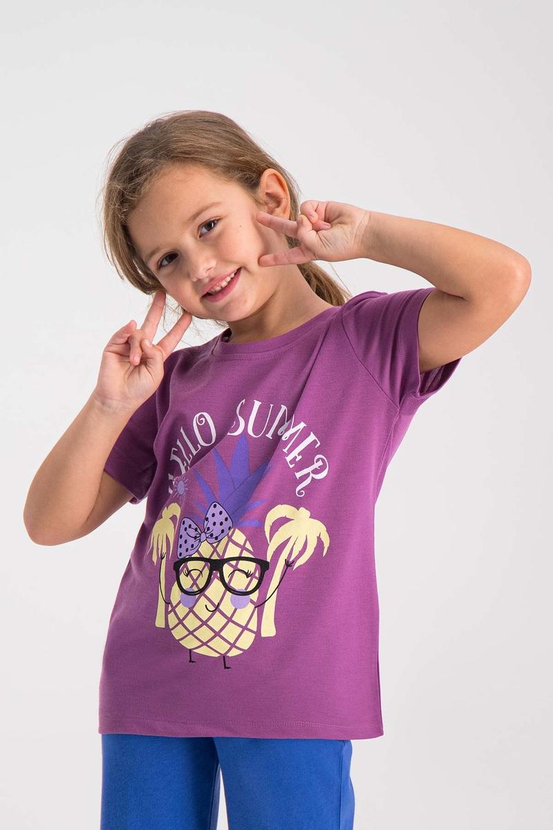 RolyPoly - RolyPoly Kız Çocuk T-Shirt Lila (1)