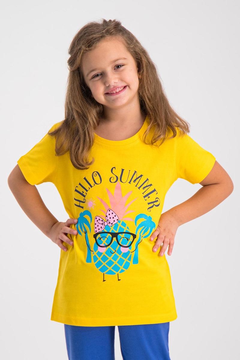 RolyPoly - RolyPoly Kız Çocuk T-Shirt Sarı