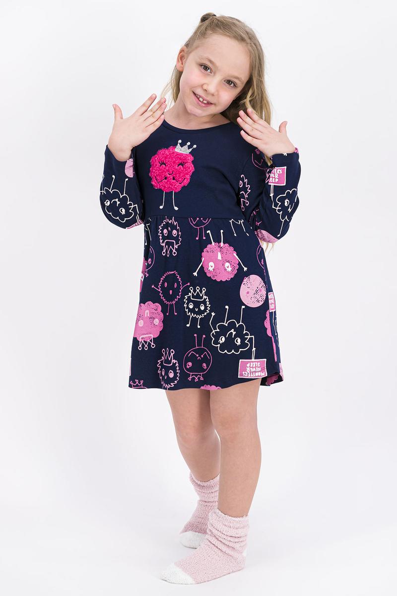 RolyPoly - Rolypoly Monsters Queen Lacivert Kız Çocuk Elbise