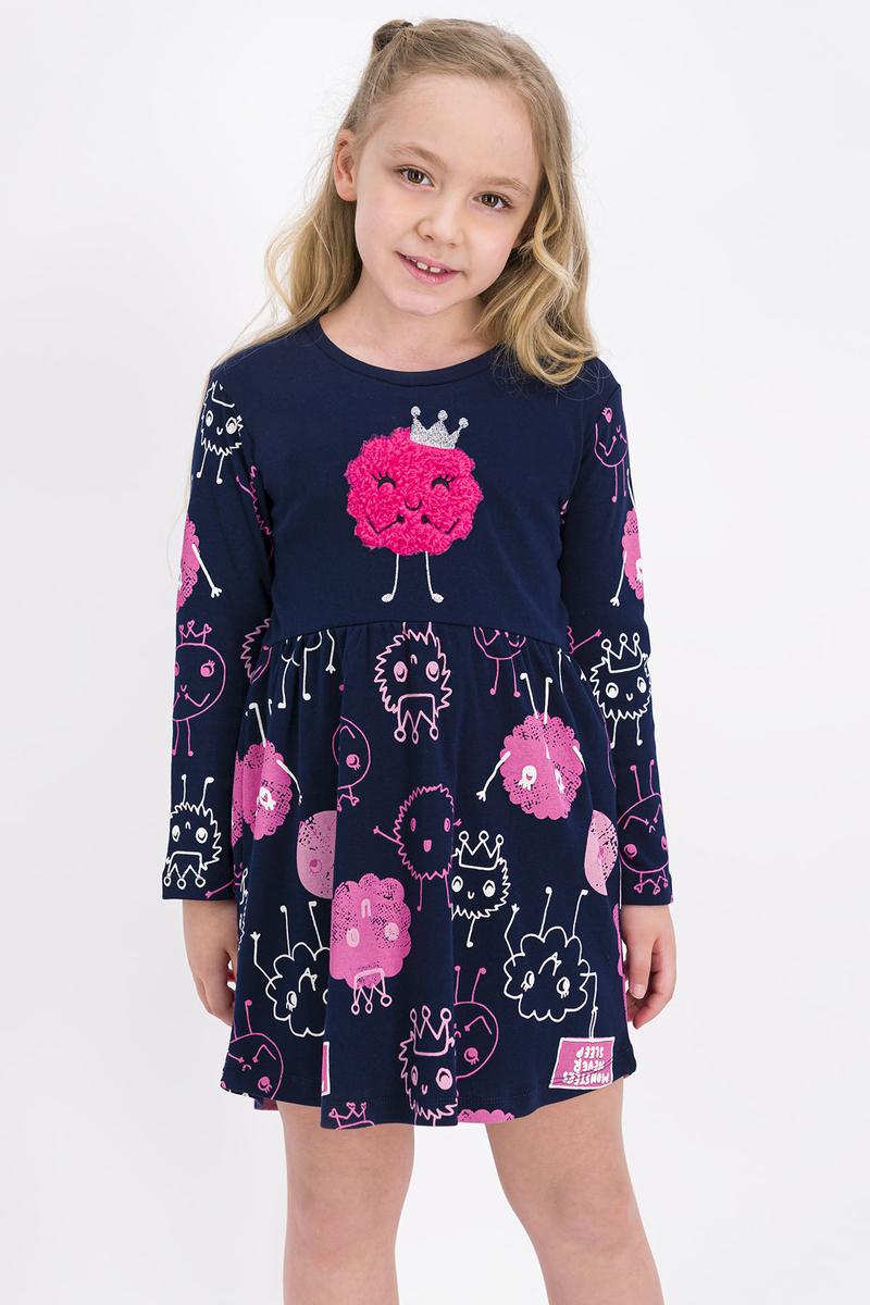RolyPoly - Rolypoly Monsters Queen Lacivert Kız Çocuk Elbise (1)