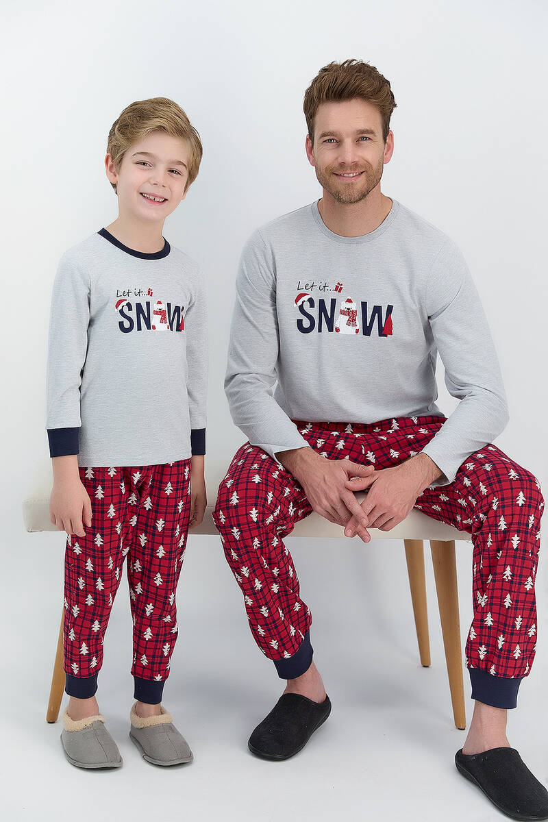 RolyPoly - RolyPoly Let İt Snow Grimelanj Erkek Çocuk Pijama Takımı (1)
