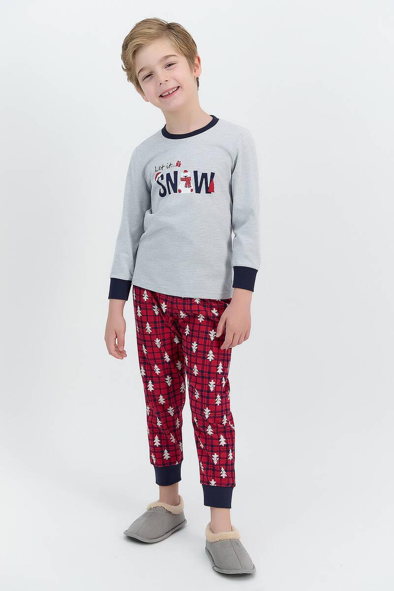 RolyPoly - RolyPoly Let İt Snow Grimelanj Erkek Çocuk Pijama Takımı