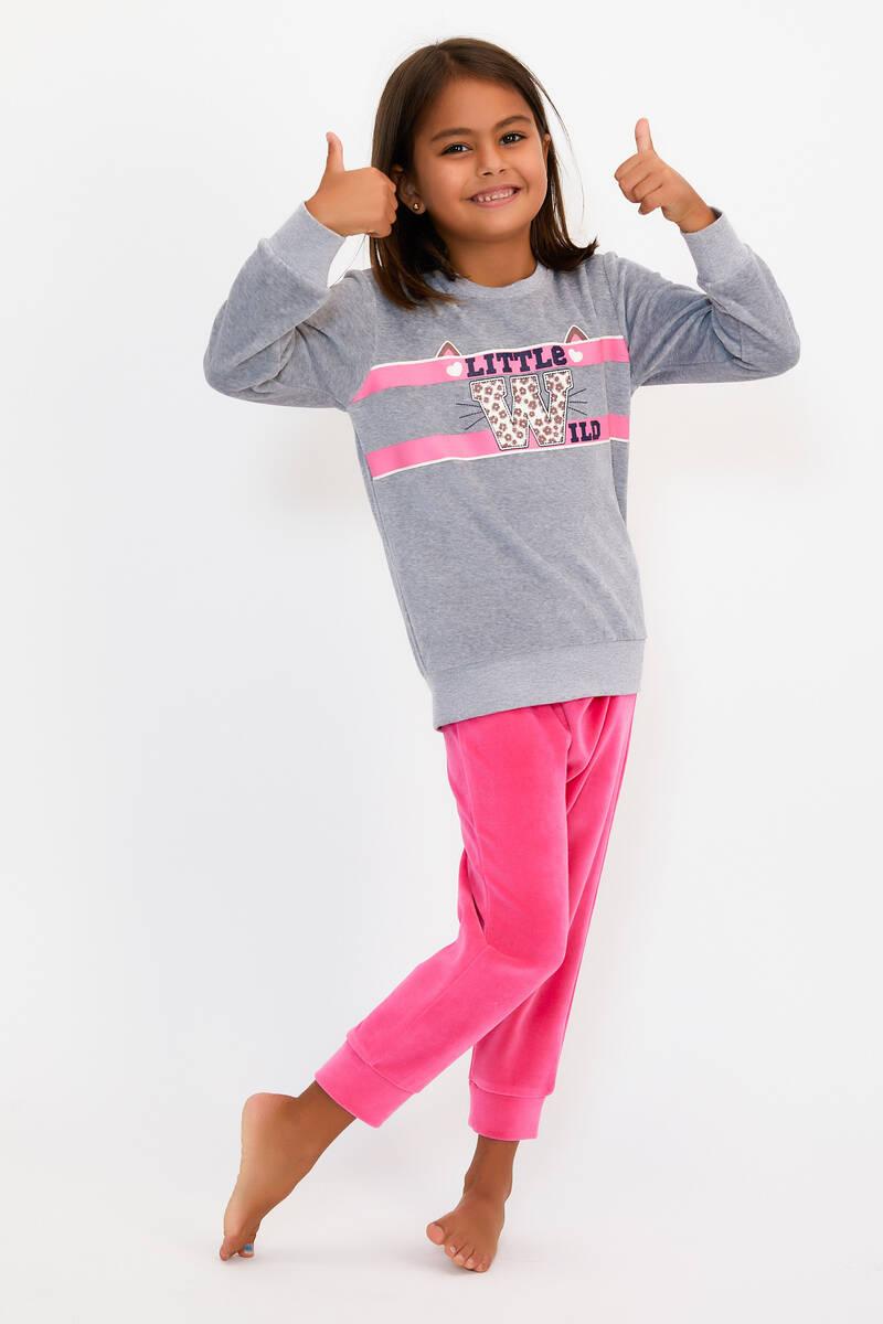 RolyPoly - RolyPoly Little Wild Grimelanj Kız Çocuk Kadife Eşofman Takımı