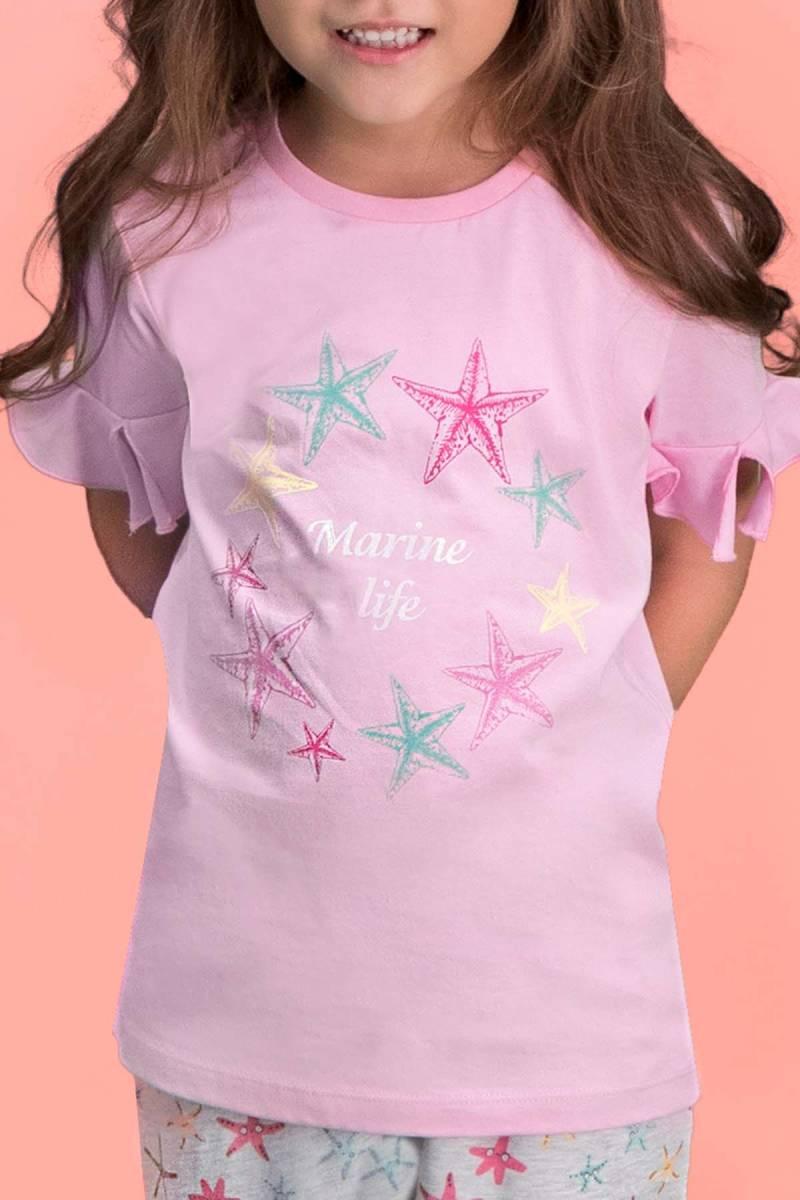 RolyPoly - RolyPoly Marine Life Pembe Kız Çocuk Pijama Takımı (1)