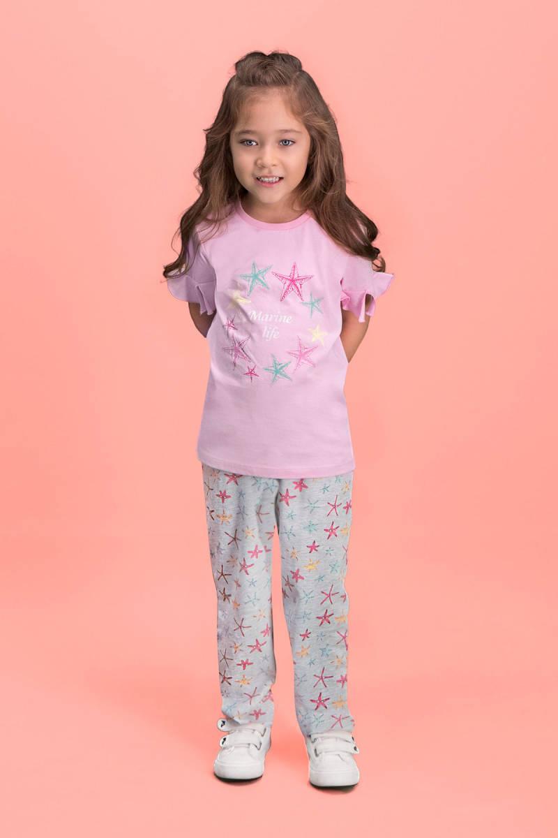 RolyPoly - RolyPoly Marine Life Pembe Kız Çocuk Pijama Takımı