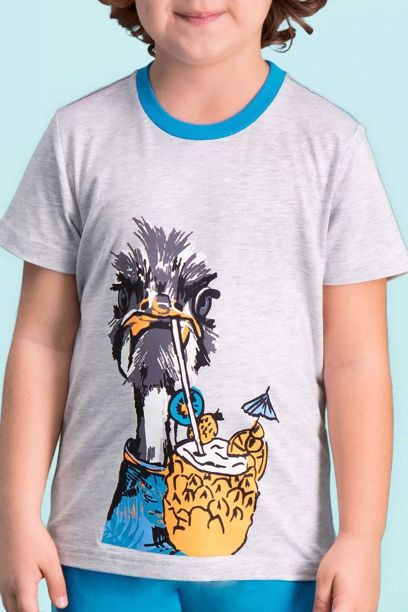 RolyPoly - RolyPoly Ostrich Açık Gri Erkek Çocuk Kapri Takım (1)
