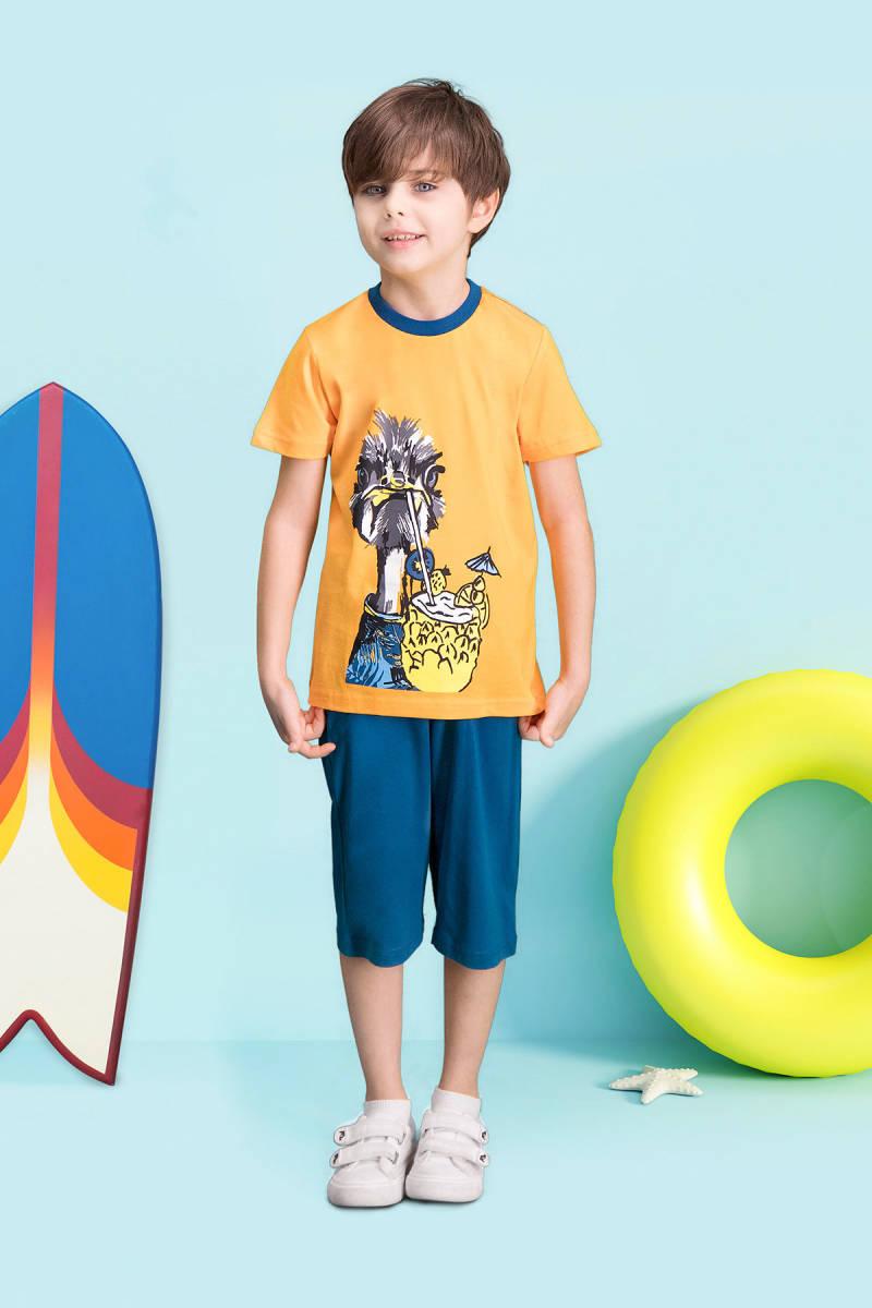 RolyPoly - RolyPoly Ostrich Oranj Erkek Çocuk Kapri Takım