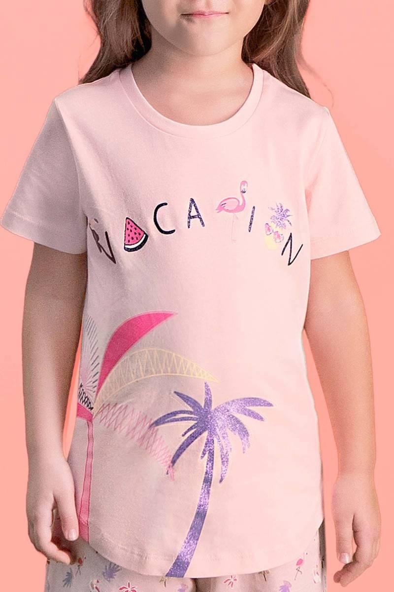 RolyPoly - RolyPoly Palm Vocation İnci Pembe Kız Çocuk Kapri Takım (1)