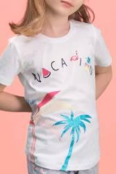 RolyPoly - RolyPoly Palm Vocation Krem Kız Çocuk Kapri Takım (1)