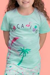 RolyPoly Palm Vocation Yeşil Kız Çocuk Kapri Takım - Thumbnail