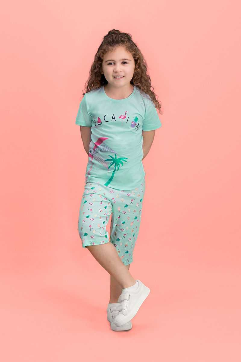 RolyPoly Palm Vocation Yeşil Kız Çocuk Kapri Takım
